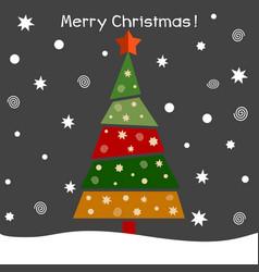 a christmas fir tree vector image vector image