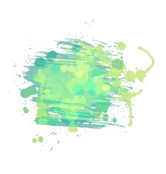 Artistic watercolor background Light green and vector image vector image