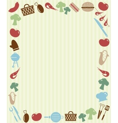 Barbecue picnic invitation vector image