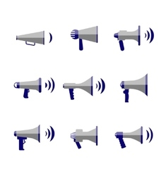 Bullhorn megaphone communication sound vector image vector image