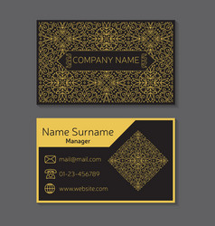 Business card editable template include vector image vector image