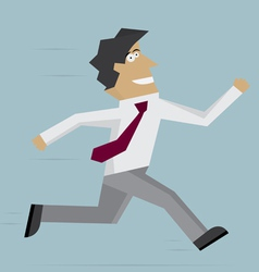 Businessman run forward vector image vector image