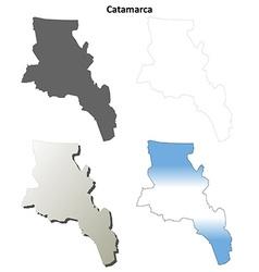 Catamarca blank outline map set vector