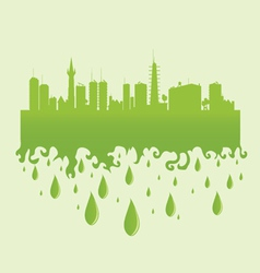 City green with water drop vector
