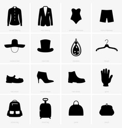 clothes objects vector image