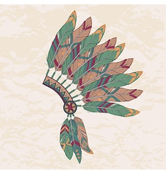 Colorful of native american indian chief hea vector