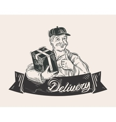 Delivery of goods logo design template vector image vector image