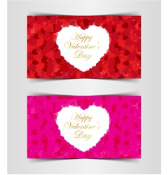Design template heart for valentines day vector