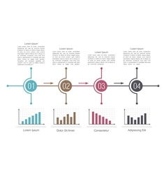 Diagram template with charts vector