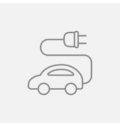 Electric car line icon vector image