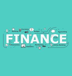 finance word desigh vector image