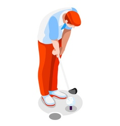 Golf 2016 sports 3d isometric vector