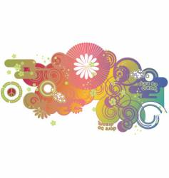 groovy graphic vector image