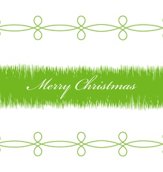 Happy Christmas green branches on a white vector image vector image