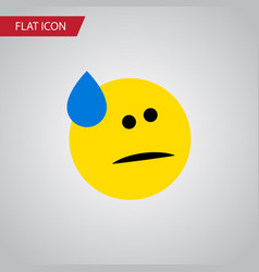 Isolated cold sweat flat icon tears vector