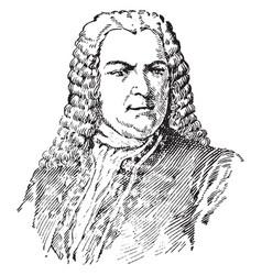 Johann sebastian bach vintage vector