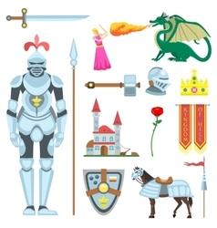 Knight symbols vector