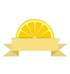 Lemon slice with paper banner vector image