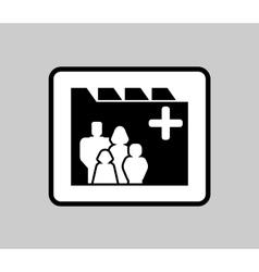 Medicine industrial icon for patient medical vector