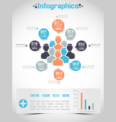 MODERN INFOGRAPHIC BUSINESS PEOPLE ICON MAN STYLE vector image