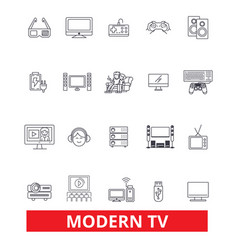 Modern tv television broadcasting media vector