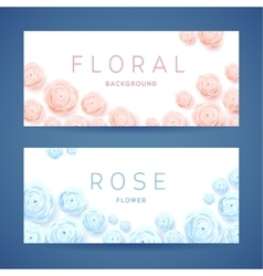 Pastel Roses on White Background Poster vector image vector image