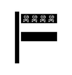 Pirate flag for design on white vector