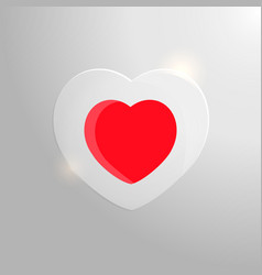 red heart in glass vector image vector image