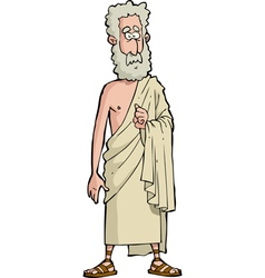 Roman philosopher vector