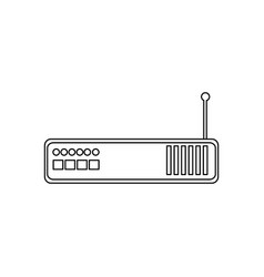 router modem device signal technology vector image