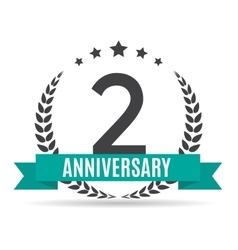 Template logo 2 years anniversary vector