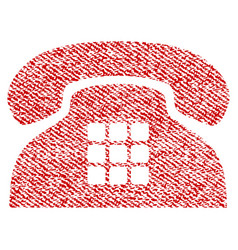 Tone phone fabric textured icon vector