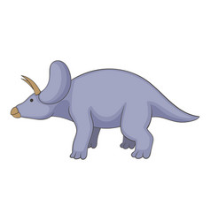 triceratops icon cartoon style vector image vector image