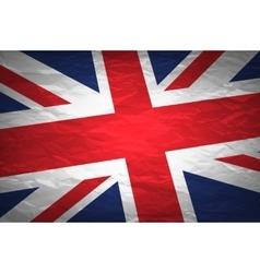 Union Jack on crumpled paper background Vintage vector image