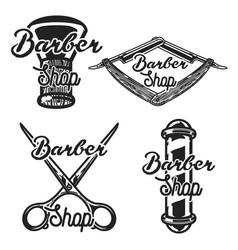 vintage barber shop emblems vector image