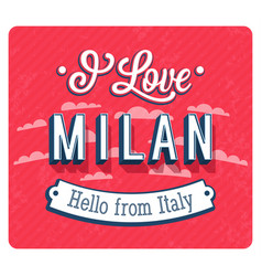 vintage greeting card from milan vector image vector image