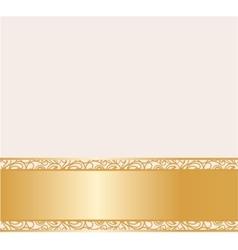 Vintage lace background for envelope vector