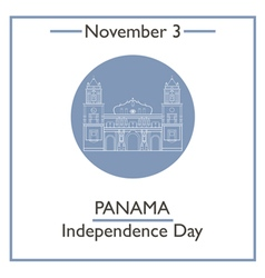 Panama independence day vector