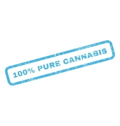 100 percent pure cannabis rubber stamp vector