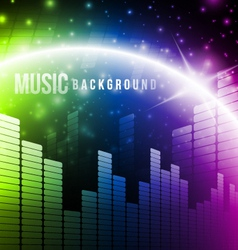 Abstract music background vector