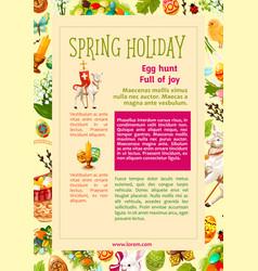 Easter egg hunt celebration poster template design vector