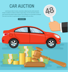 Sale car at auction vector
