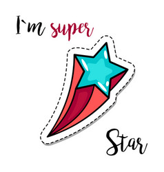 fashion patch element star vector image