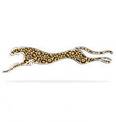 Leopard running vector