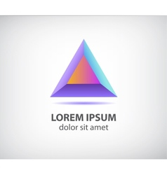Abstract 3d colorful modern triangle logo vector