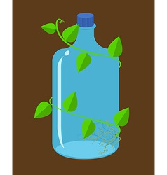 Water bottles bioplastic vector