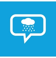 Rain message icon vector