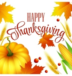 Thanksgiving autumn card vector