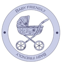 Baby friendly sticker vector