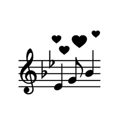 Wedding music simple icon vector
